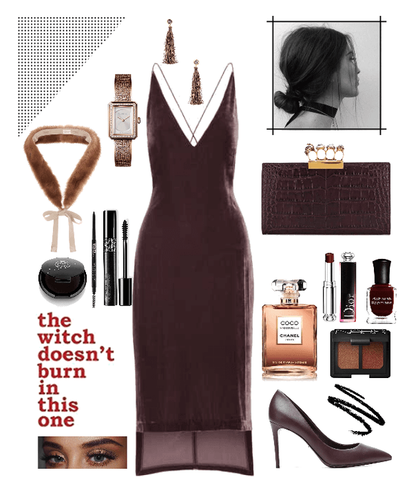 Evening look #3 - burgundy