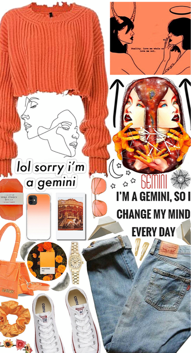 Gemini in orange
