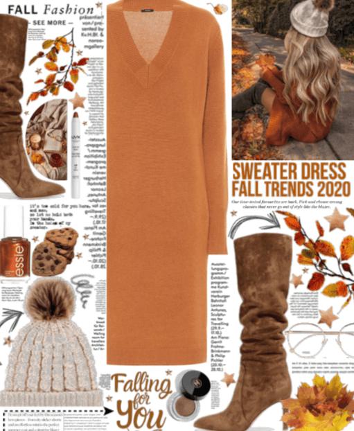 Sweater Dress fall trend.