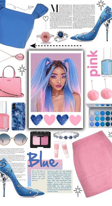 Blue & pink 💙👛