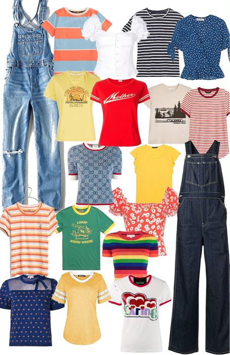 overalls and cute tops for spring