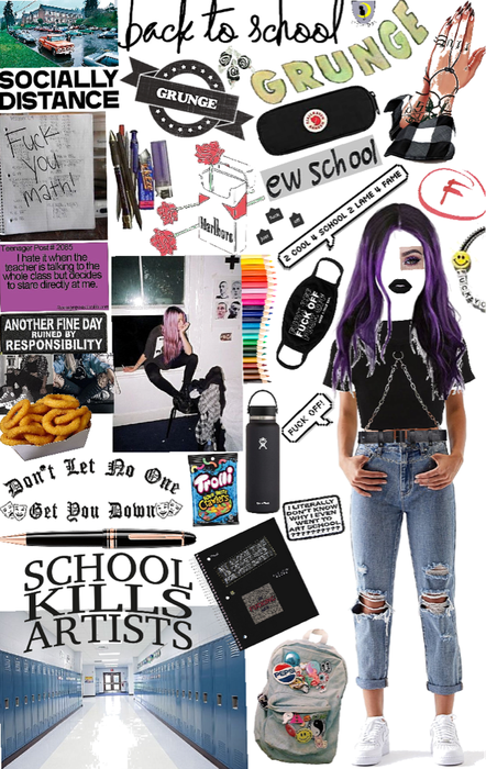 back to school grunge