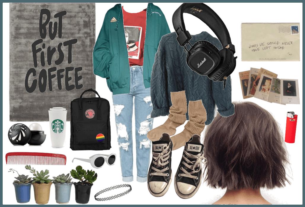 caffeinated art hoe