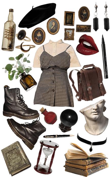 Simple Dress- Dark Academia