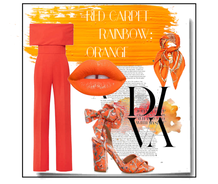 Red carpet rainbow: orange