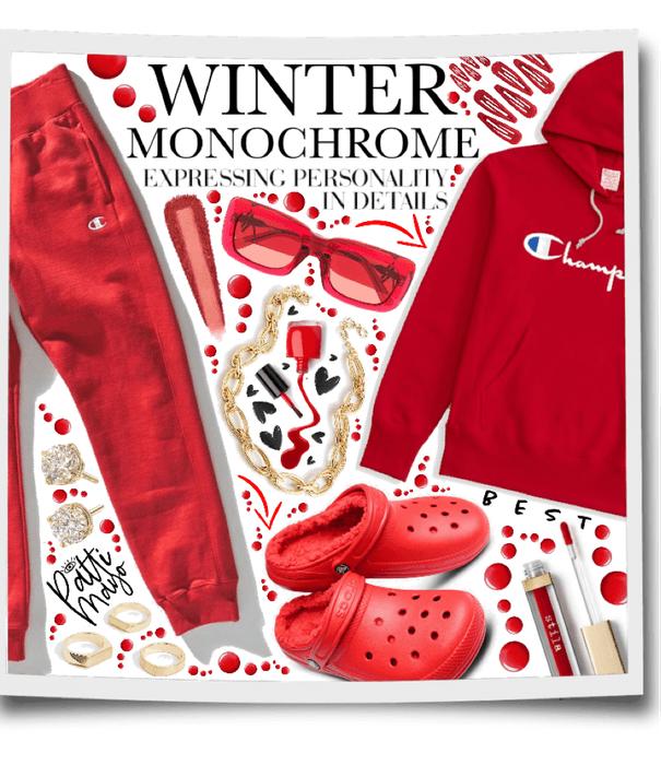 RED WINTER MONOCHROME ❤️❤️
