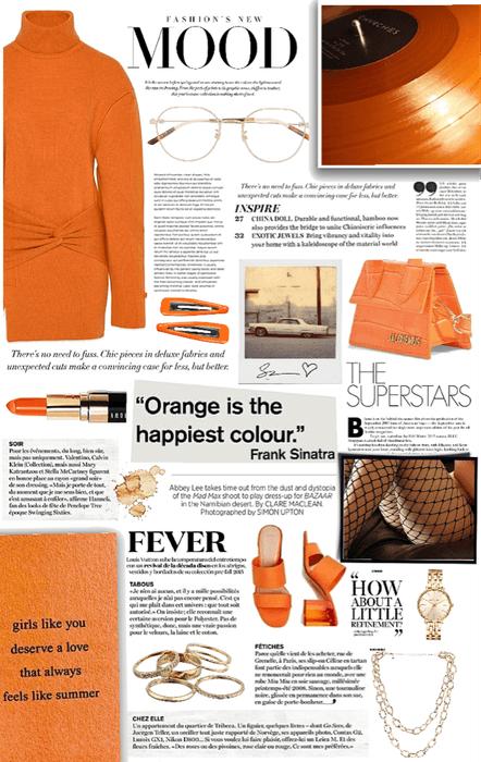 peachy orange.