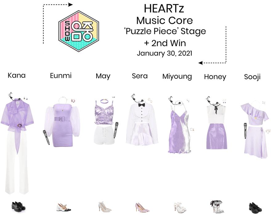 HEARTz//'Puzzle Piece' Music Core Stage + 2nd Win