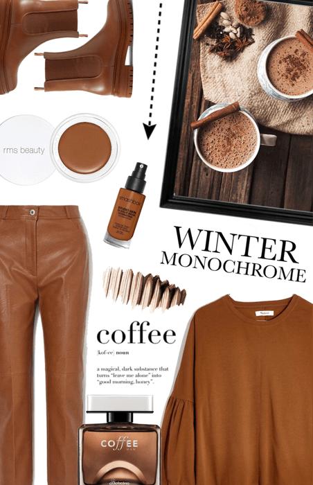 winter monochrome: coffee