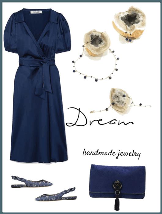 Dream handmade jewelry - Dark blue