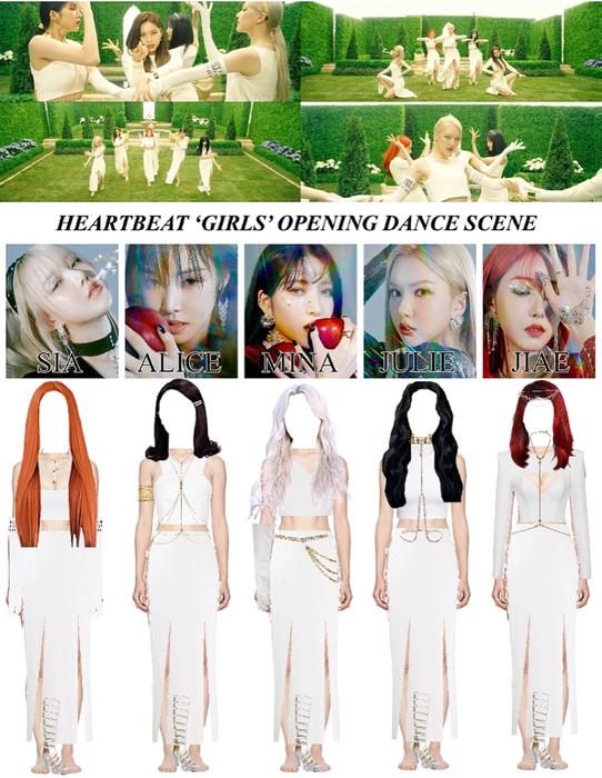 [HEARTBEAT] 'GIRLS' OFFICIAL MUSIC VIDEO   OPENING DANCE SCENE