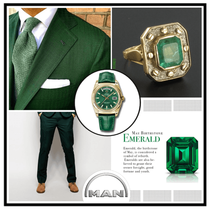 Men in Emerald Green Fashion