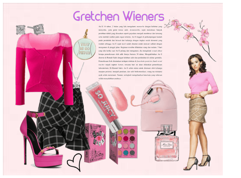Gretchen Wieners Outfit Shoplook #gretchen wieners #mean girls #mean girls gif #john lennon #lennie #mclennon #the beatles are more popular than jesus #beatles want to see more posts tagged #gretchen wieners? gretchen wieners outfit shoplook