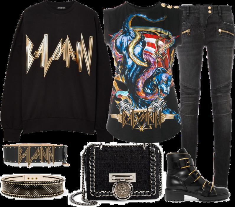 All Balmain outfit