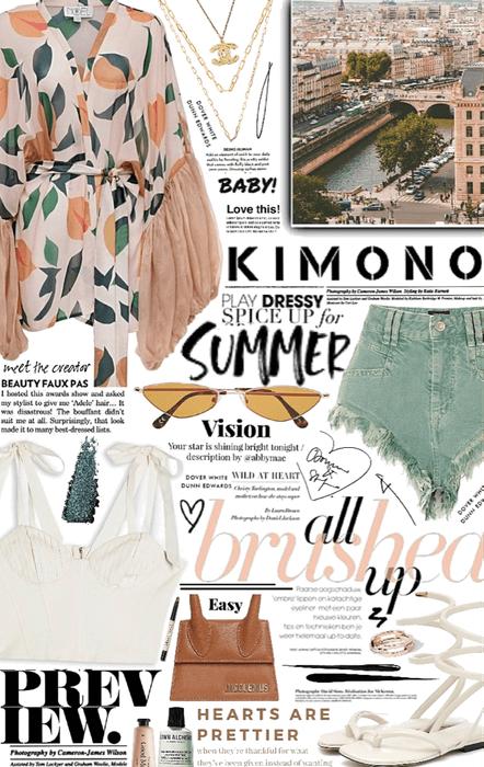 summer kimono. 👘