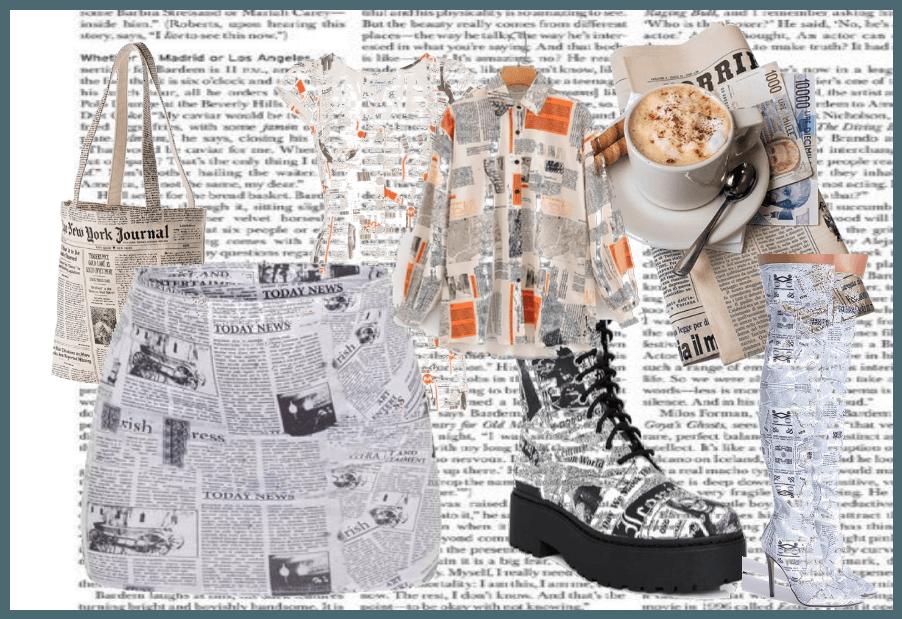 Newspaper fashion <3