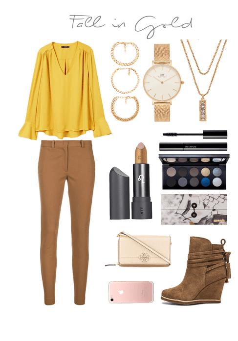 mustard and bronze