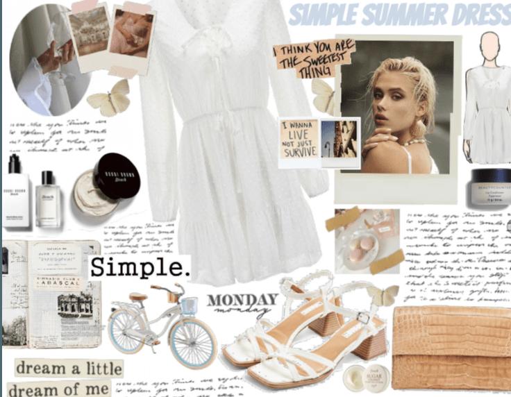 Simple white summer dress