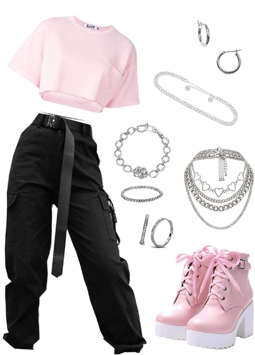 pink edgy