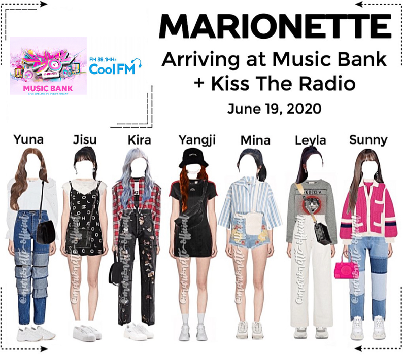 MARIONETTE (마리오네트) Arriving At Music Bank & Kiss The Radio