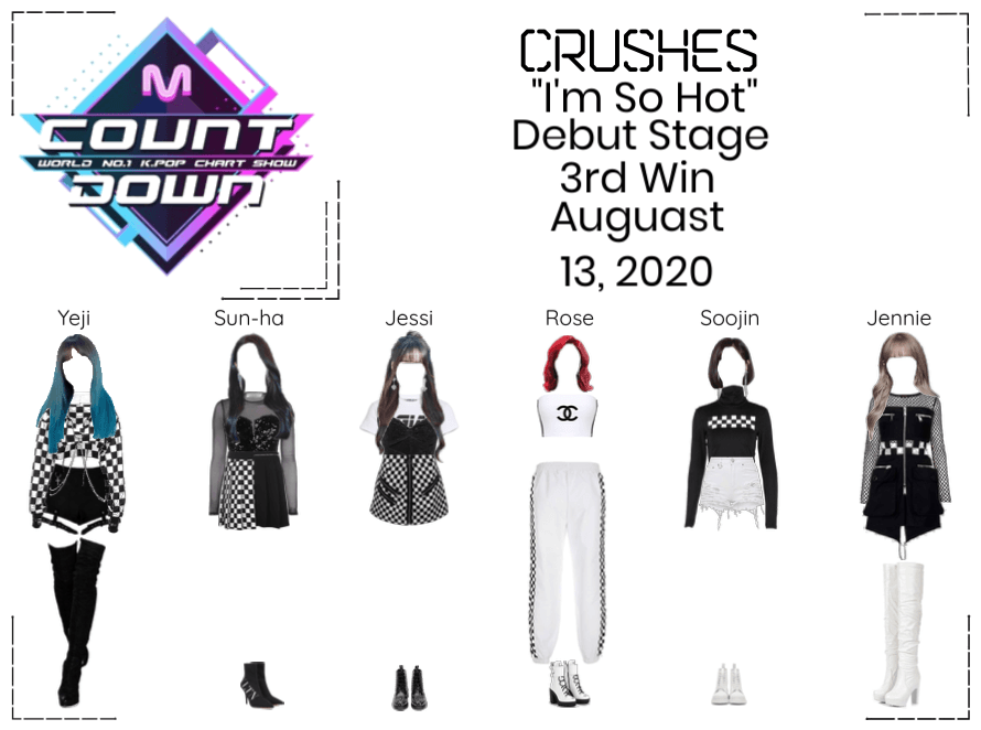 """Crushes (호감) """"I'm So Hot"""" Debut Stage 3rd Win"""