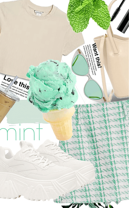 mint and beige
