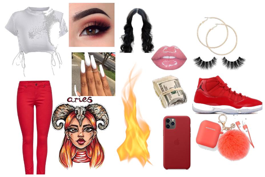 aries zodiac sign outfit