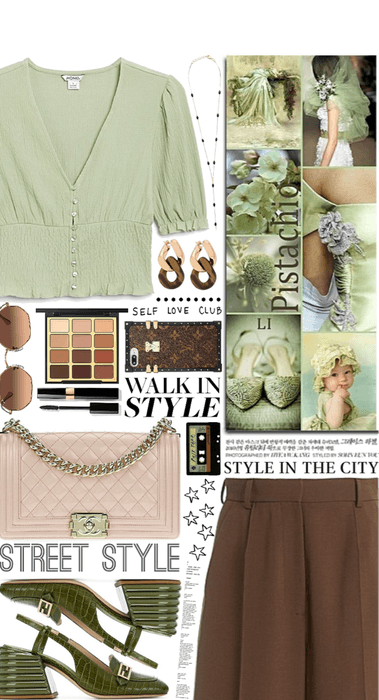 Pistachio and Brown
