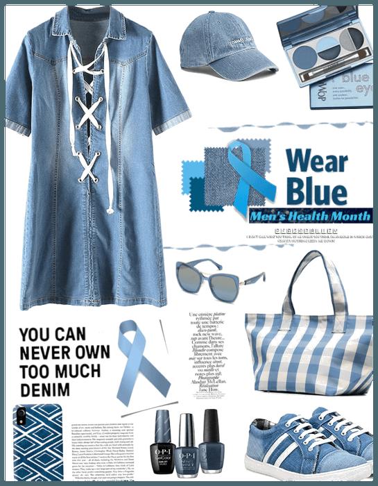 Wear blue for mens health