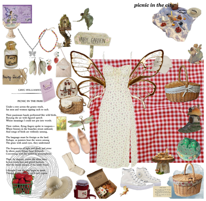soft fairy picnic outfit