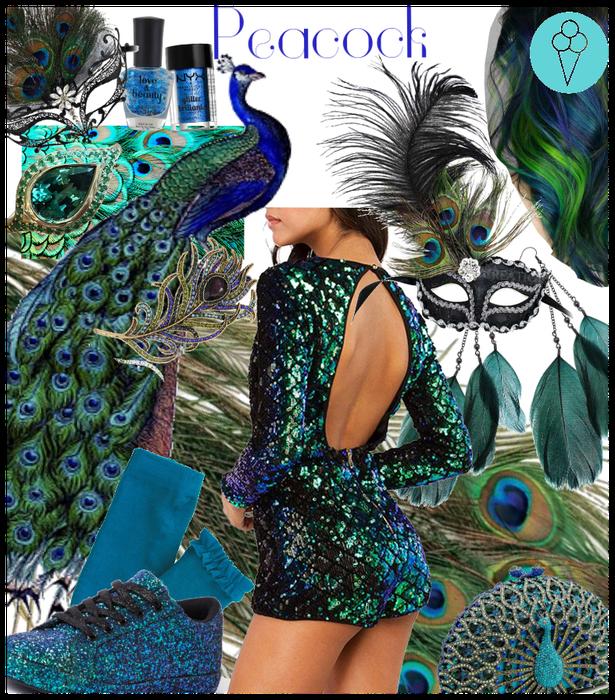 # Peacock # Animal inspired Halloween costume Diy