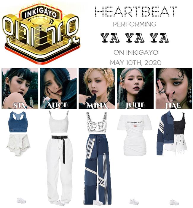 [HEARTBEAT] 200510 INKIGAYO STAGE | 'YA YA YA'
