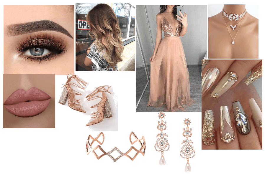 Rose Gold Prom Idea Outfit Shoplook