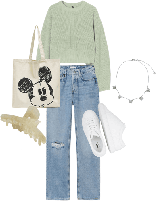 Sage Green casual outfit