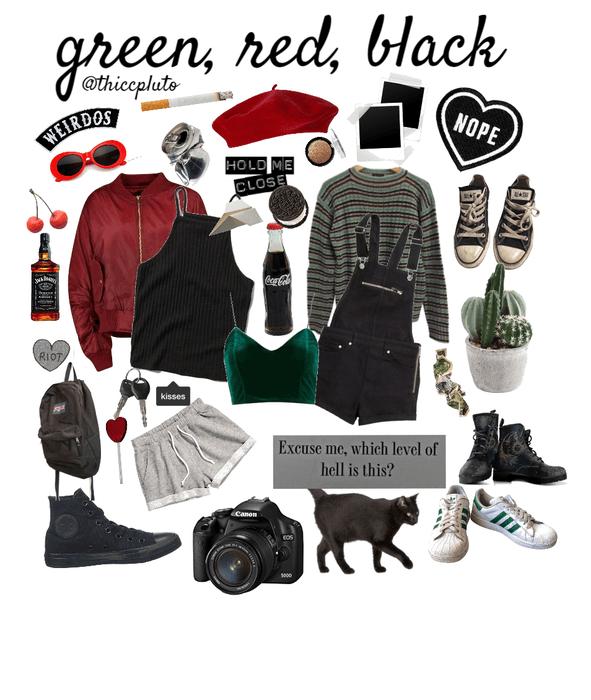green red black
