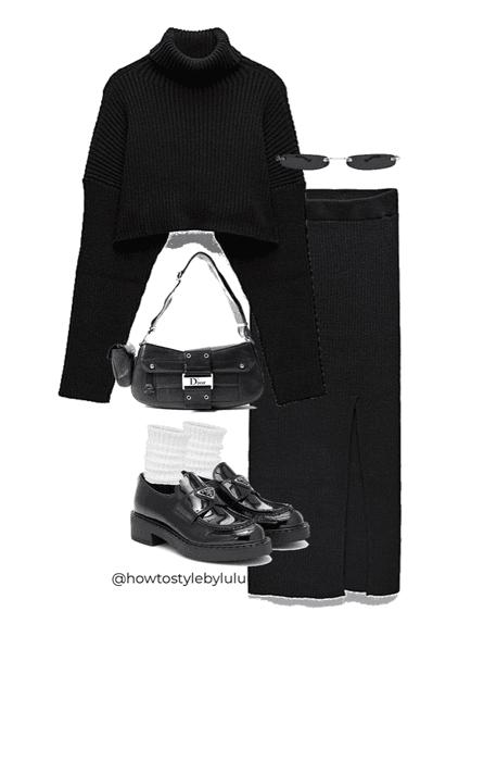 black knit 🧶 8/10/20