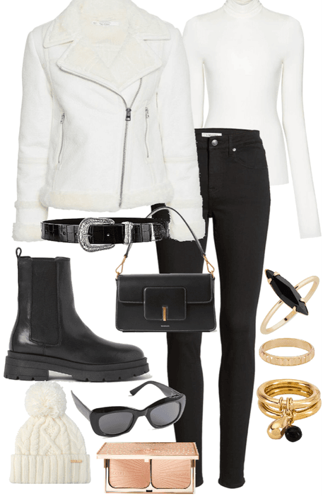 White Aviator Jacket