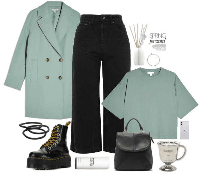 a baby blue outfit
