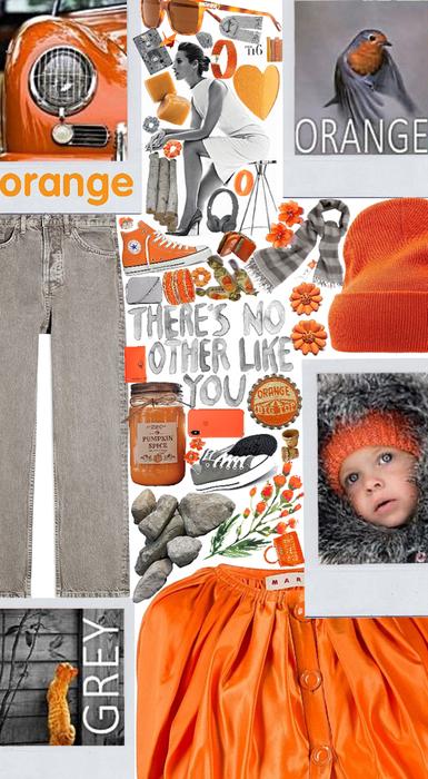 orange and grey color scheme 😊🧡