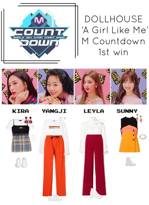 {DOLLHOUSE} M Countdown 'A Girl Like Me' 1st Win