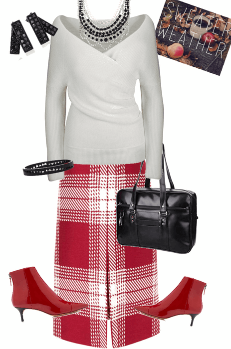 Sweater Weather: Red & White