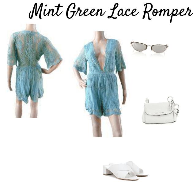 Mint Green Lace Romper