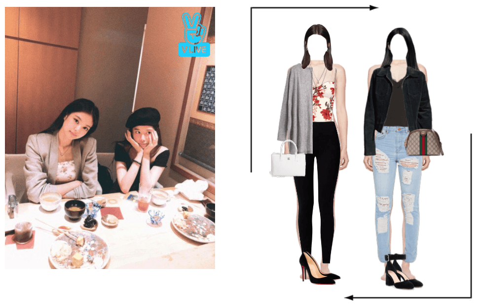 Somi&Yiyeon Vlive Outfit