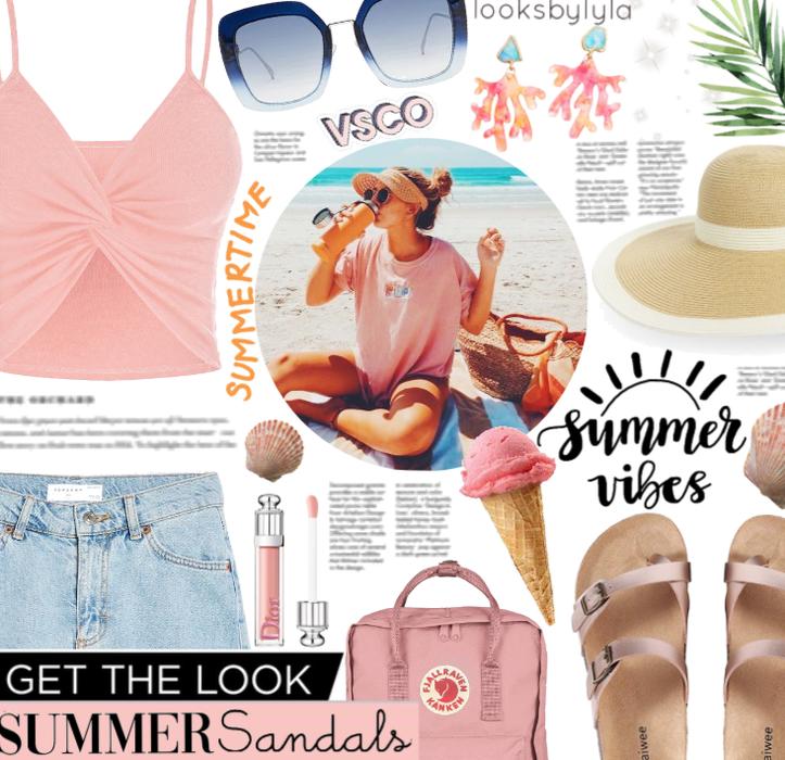 Get The Look: Vsco Girl Meets Summer Sandals. 🌊🏝
