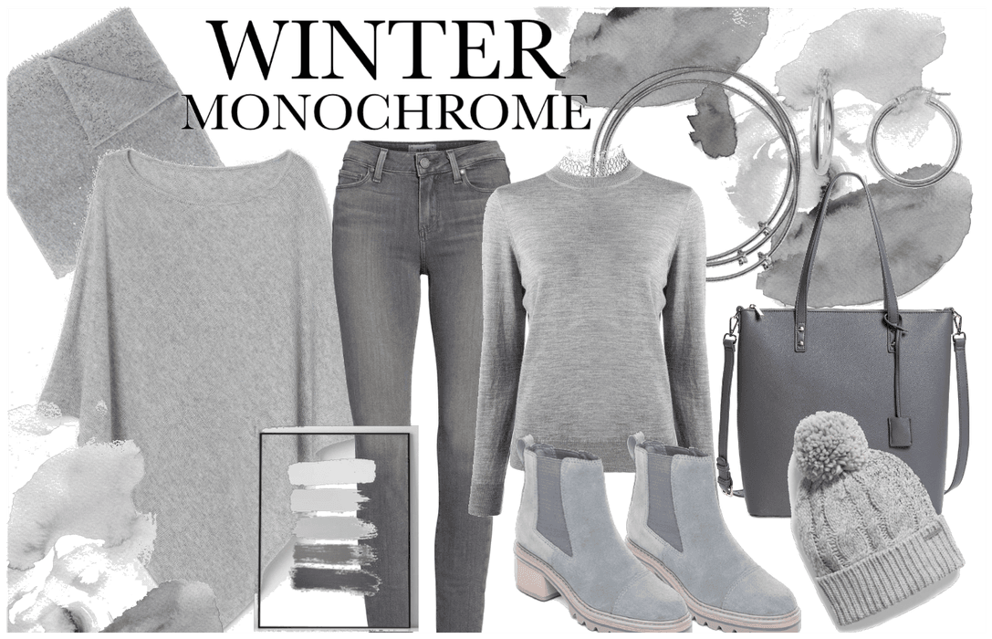 Winter Monochrome Outfit in Grey