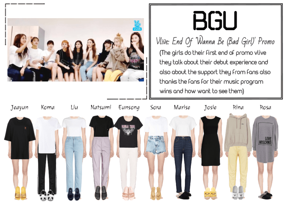BGU Vlive: End Of 'Wanna Be (Bad Girl)' Promo