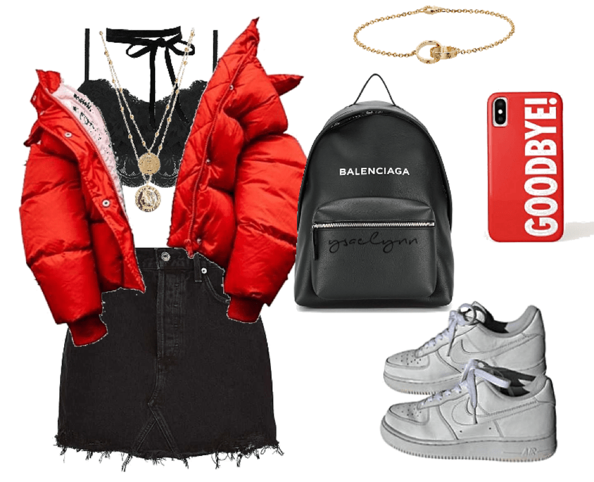 red streetstyle