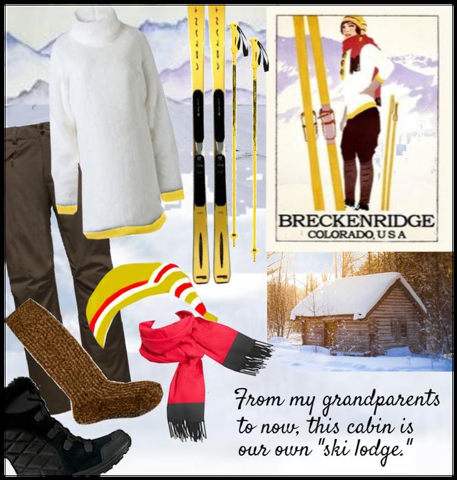 A vintage poster & our vintage ski ladge