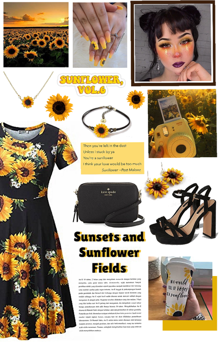 Sunsets and sunflower fields 🌅🌻