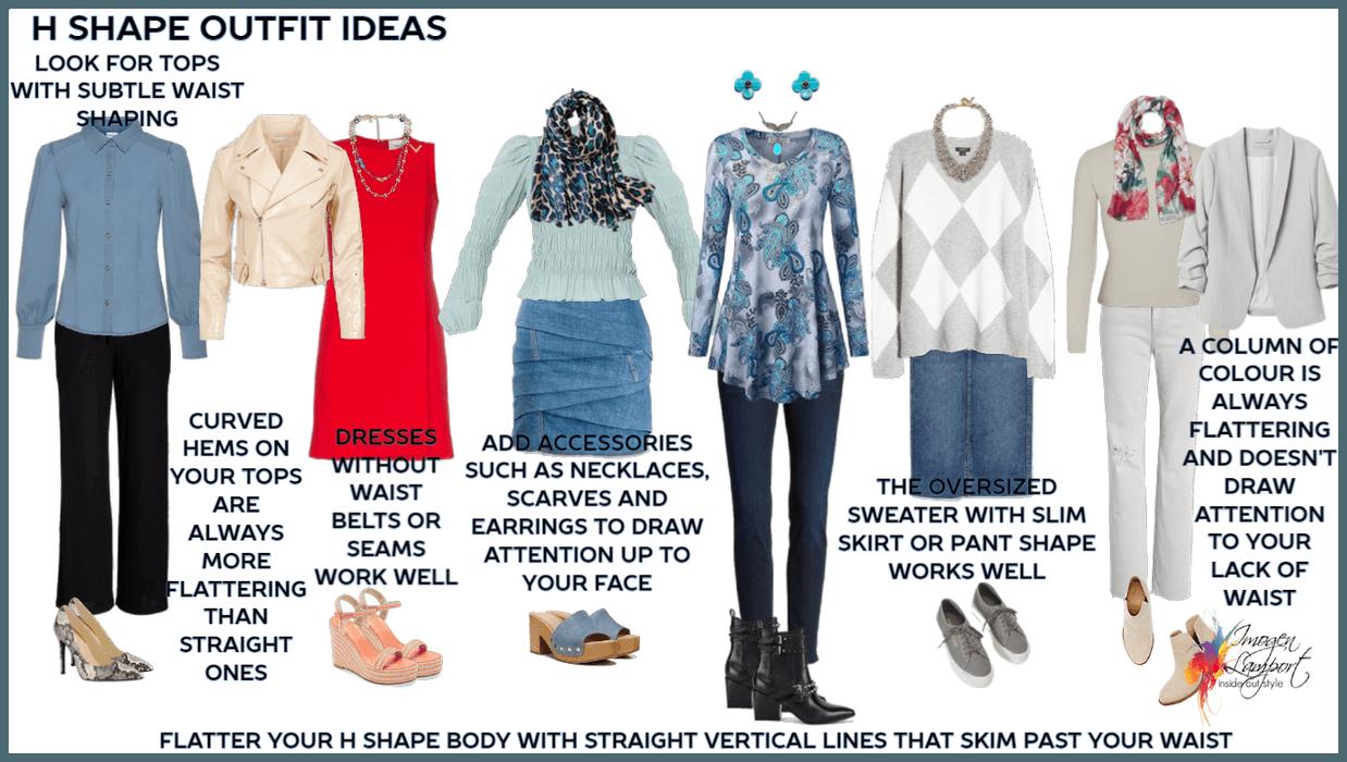 H shape outfit ideas